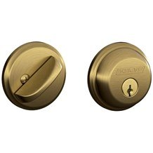 Schlage B60-609 Antique Brass Single Cylinder Deadbolt from the B-Series