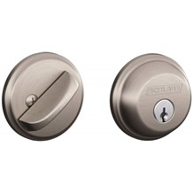 Schlage B60-619 Satin Nickel Single Cylinder Deadbolt from the B-Series
