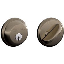 Schlage B60-620 Antique Nickel Single Cylinder Deadbolt from the B-Series