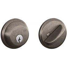 Schlage B60-621 Distressed Nickel Single Cylinder Deadbolt from the B-Series