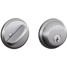 Schlage B60-626 Satin Chrome Single Cylinder Deadbolt from the B-Series