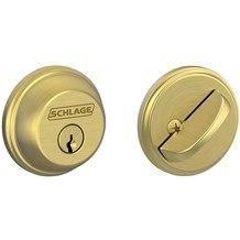 Schlage B60-608 Satin Brass Single Cylinder Deadbolt from the B-Series