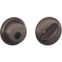 Schlage B60-613 Oil Rubbed Bronze Single Cylinder Deadbolt from the B-Series
