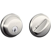 Schlage B60-618 Polished Nickel Single Cylinder Deadbolt from the B-Series