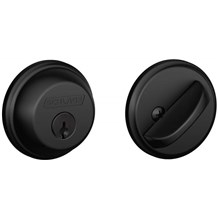 Schlage B60-622 Matte Black Single Cylinder Deadbolt from the B-Series