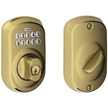 Schlage BE365-PLY Plymouth Keypad Single Cylinder Deadbolt