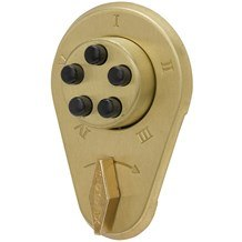 9100000 Simplex Mechanical Pushbutton Lock w/Key Override