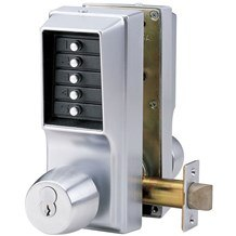 EE1021M/EE1021M-26D Simplex Entry and Egress Pushbutton Lock with Knob (Clearance)