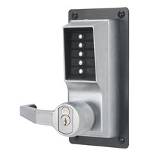 LP1020M-26D Simplex Pushbutton Exit Trim Lock with Lever (Medeco/Yale)